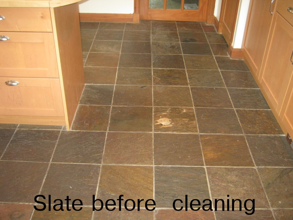 West of scotland tile cleaning services tile cleaningrepair and slate tile floor in a kitchen dailygadgetfo Image collections